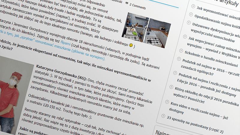 """Wywiad """"Jak wyremontować mieszkanie na wynajem?"""" - Wynajmistrz.pl"""